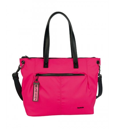 Bolso Shopping Fucsia...